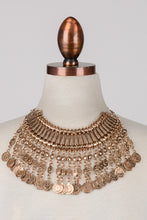 Load image into Gallery viewer, Bronze Coin Statement Necklace