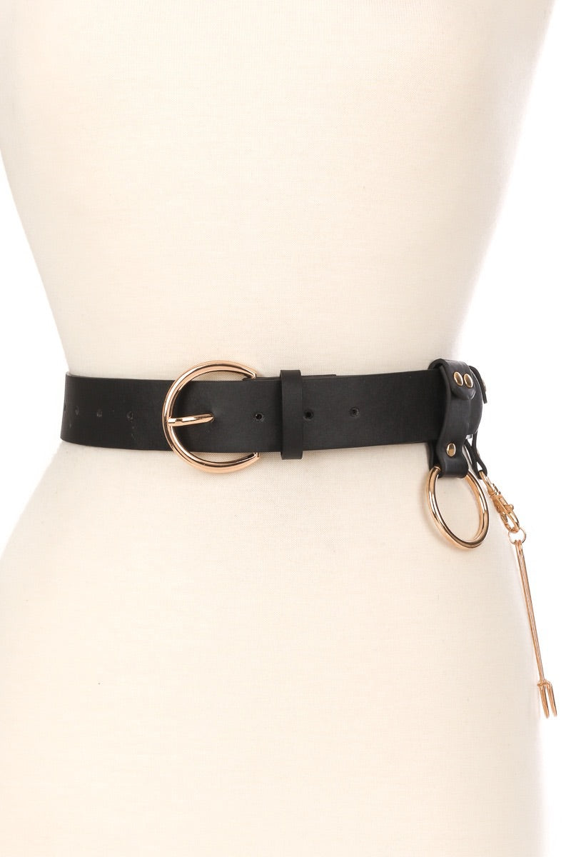 Leather Ring Belt