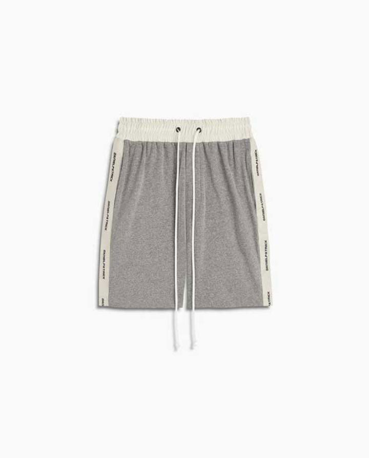 Loop Terry Gym Short | Heather Grey + Ivory