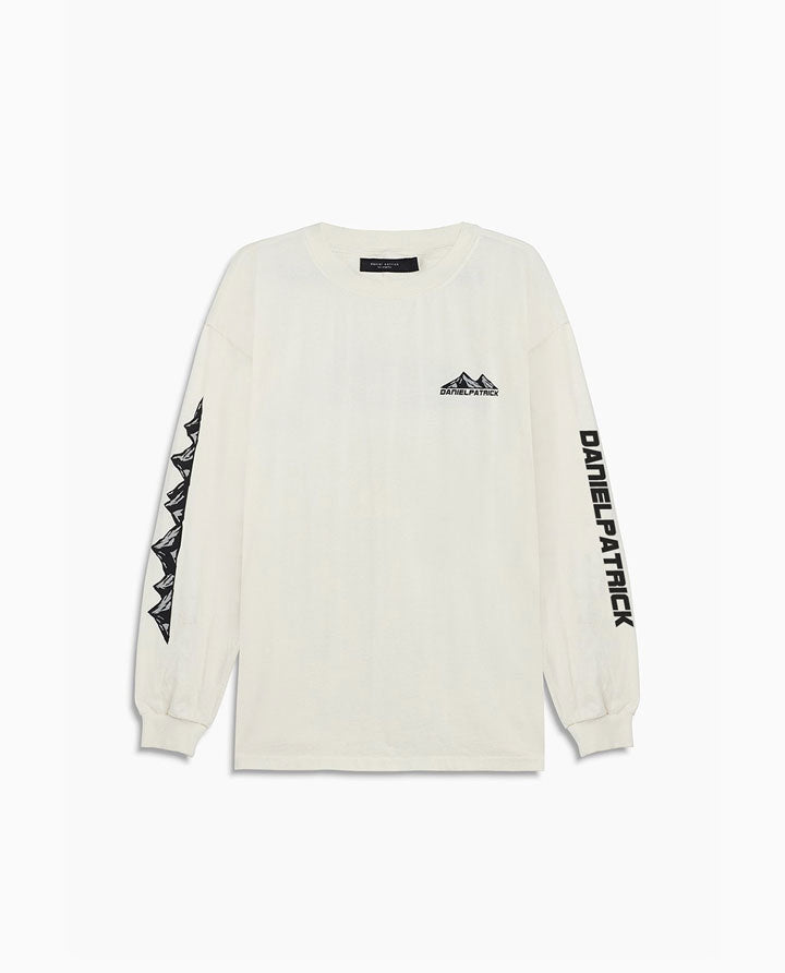 Moving Mountains L/S Tee | Natural