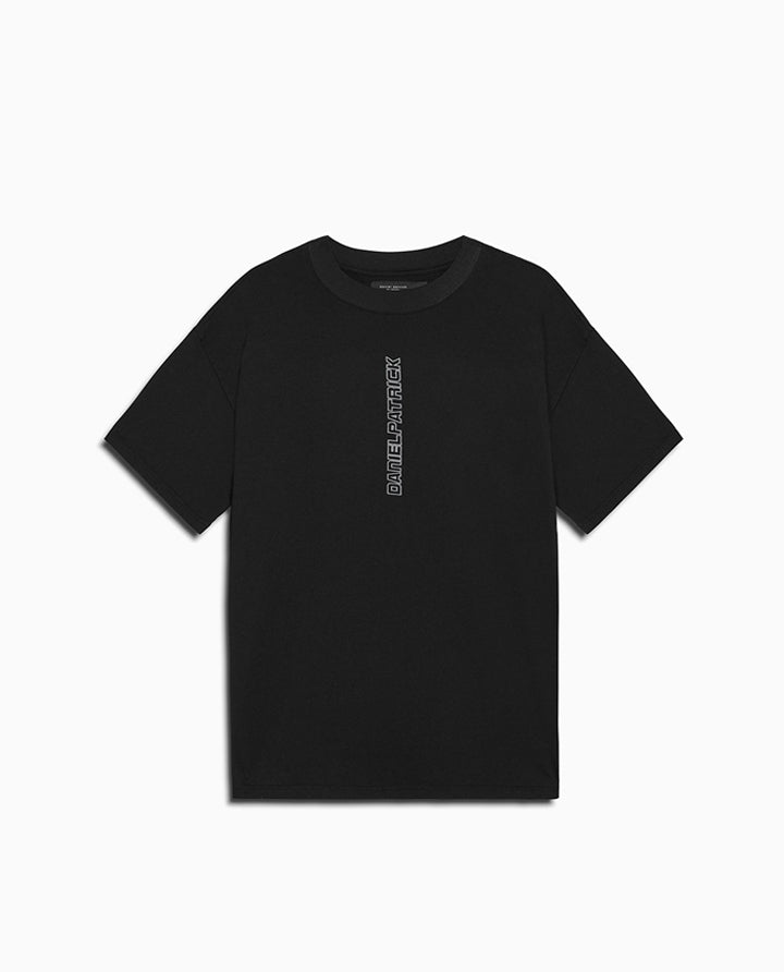 Vertical Logo Tee | Black + Smog Grey