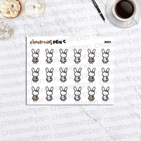 B001 | Bella holds her Planner | Planner Stickers