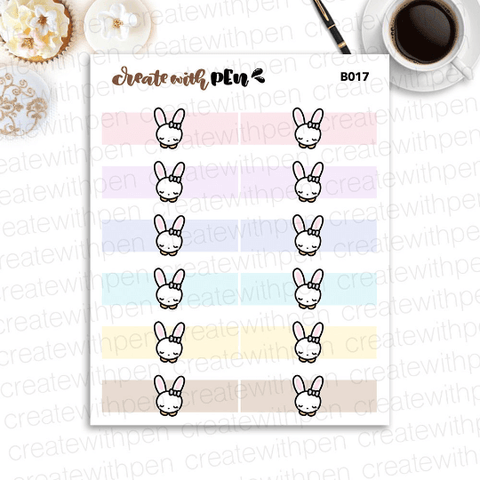 B017 | Bella Header Sticker | Planner Stickers