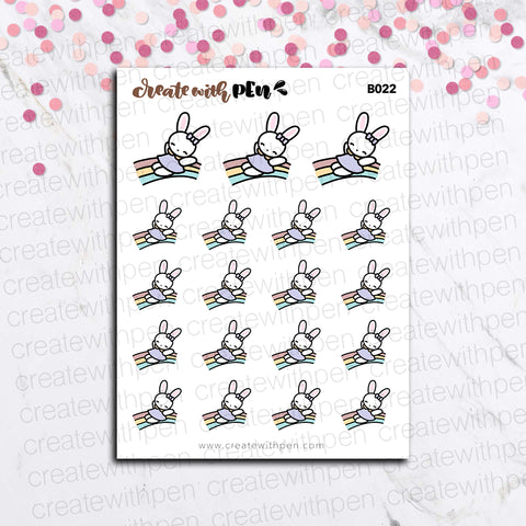 B022 | Bella and Rainbow | Bella | Planner Stickers