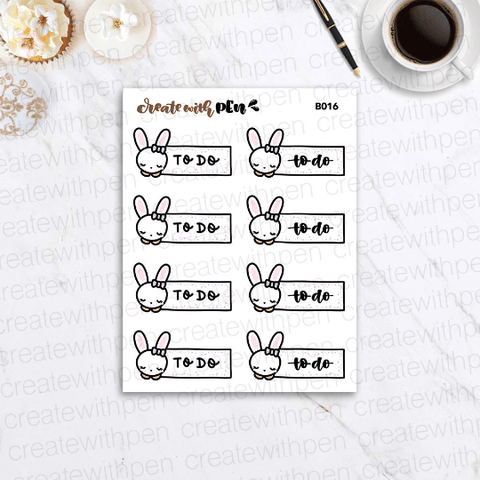 B016 | Bella To Do Header | Planner Stickers