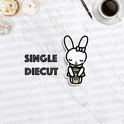 DIECUT: Bella and her frap | Planner Decoration