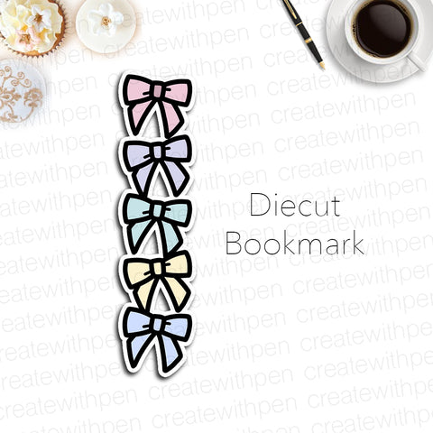 DIECUT Bookmark: Stacked Bows | Planner Decoration