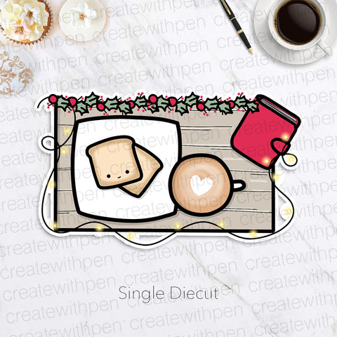 DIECUT: Holiday Breakfast with Planner | Planner Decoration