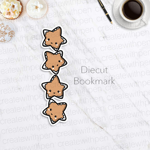 DIECUT Bookmark: Gingerbread Cookies | Planner Decoration