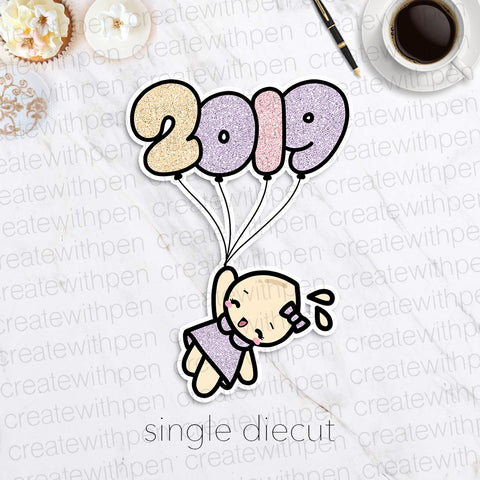 DIECUT: 2019 Balloon | Planner Decoration