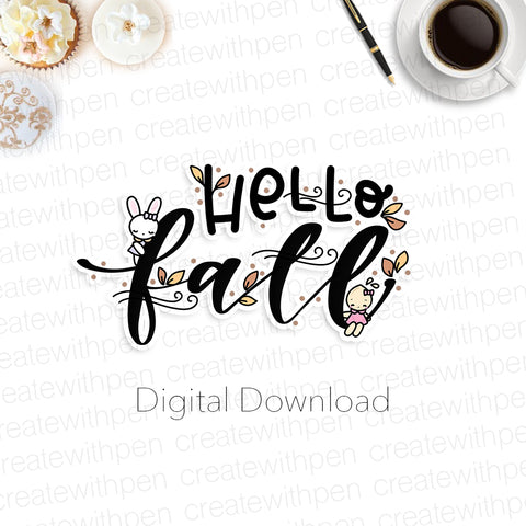 Digital: Hello Fall Script with Tinta and Bella