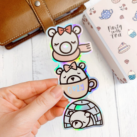 Diecut Bookmark: Polar Bears | Winter 2020 Collection