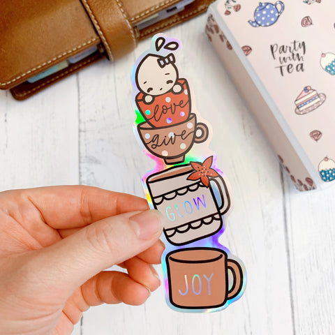 Diecut Bookmark: Christmas Cups | Winter 2020 Collection