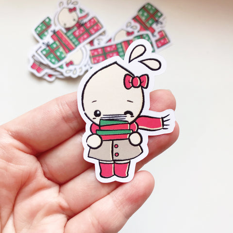 DIECUT: Tinta holds Happy Mail (Christmas)