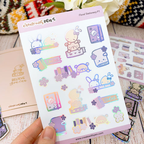 Feb 2021 Deco Kit (Floral Stationery) Monthly Subscription