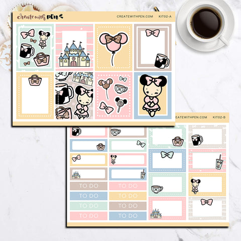 KIT02(EC) - Fun at the Theme Park | Tinta Planner Sticker Mini Kit