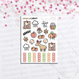 KIT06(EC) - AUTUMN VIBES | TINTA PLANNER STICKERS | MINI STICKER KITS