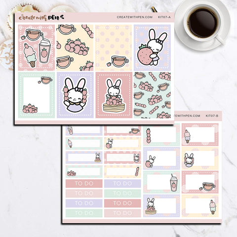 KIT07(EC) - Strawberry Everything | Bella Planner Sticker Mini Kit