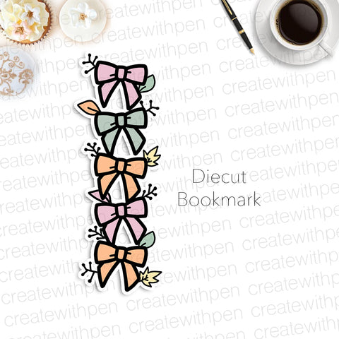 DIECUT Bookmark: Autumn Stacked Bows | Planner Decoration