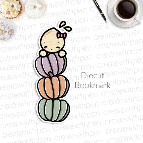 DIECUT Bookmark: Stacked Pumpkins with Tinta | Planner Decoration
