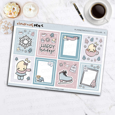 Collab Mini kit with Planner Monkey Co. Artwork (EC Vertical)