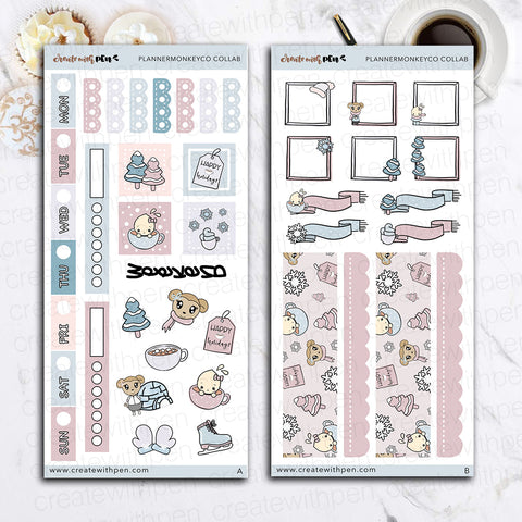 Collab Hobo Weeks kit with Planner Monkey Co. Artwork