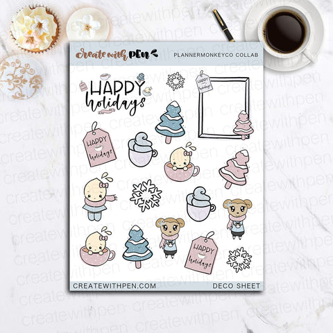 Decorative Sheet with Planner Monkey Co | Winter Collection