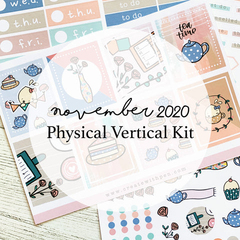 November Vertical Kit (Physical) | Tea Party