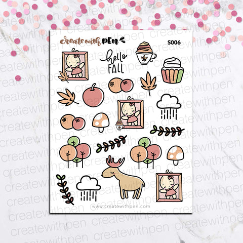 S006 | AUTUMN VIBES DECORATIVE STICKERS