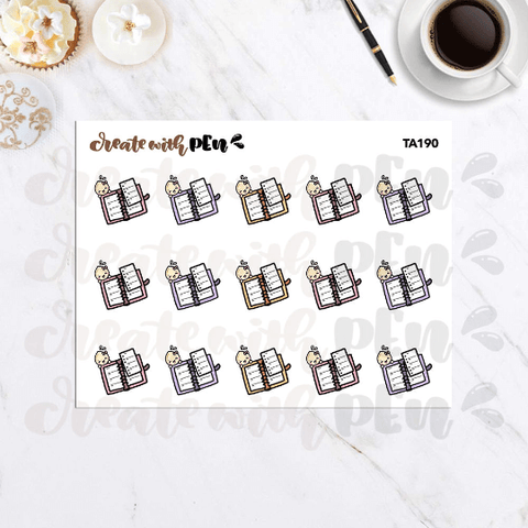 TA190 | RING PLANNER with Tinta | Tinta | Planner Stickers