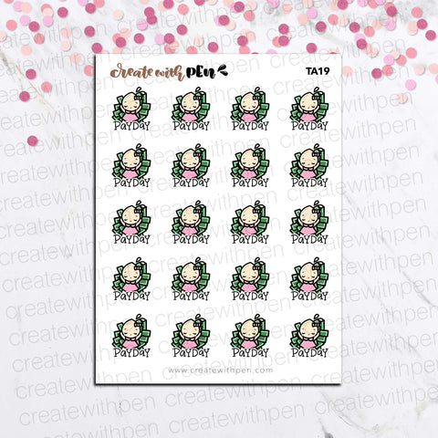 TA19 | Tinta | PAY DAY | Planner Stickers
