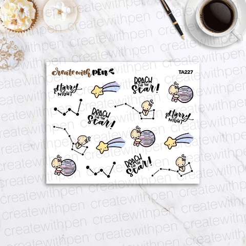 TA227 | Tinta with the constellations | Planner Stickers