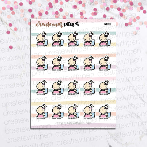 TA22 | Tinta | HYDRATE | Planner Stickers