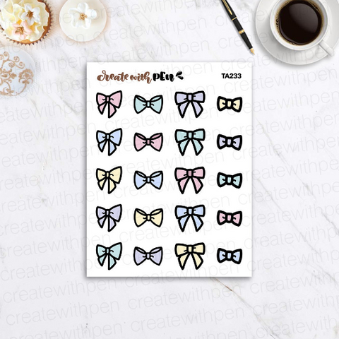 TA233 | Bows Everything | Planner Stickers