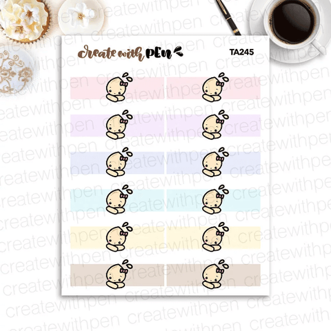 TA245 | Tinta Header Sticker | Tinta | Planner Stickers