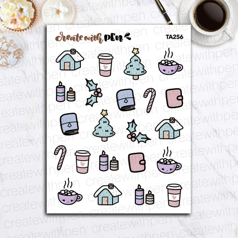 TA256 | Christmas Doodles | Tinta | Planner Stickers