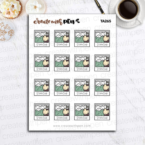 TA265 | Snow Day Weather | Tinta | Planner Stickers