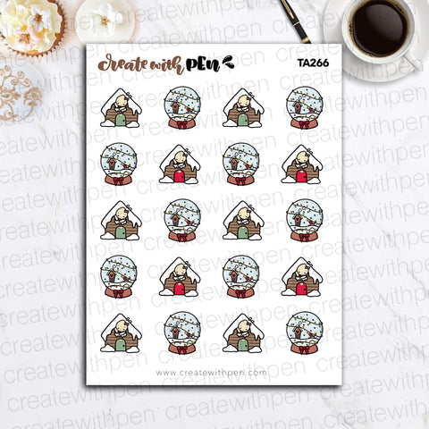 TA266 | Christmas Doodles V4 | Tinta | Planner Stickers