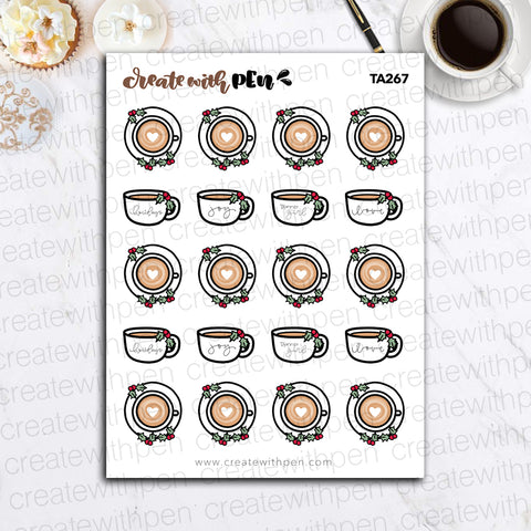 TA267 | Christmas Doodles V5 | Tinta | Planner Stickers