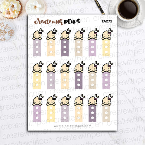 TA272 | Checklists (sm) Purples and Yellows | Tinta | Planner Stickers