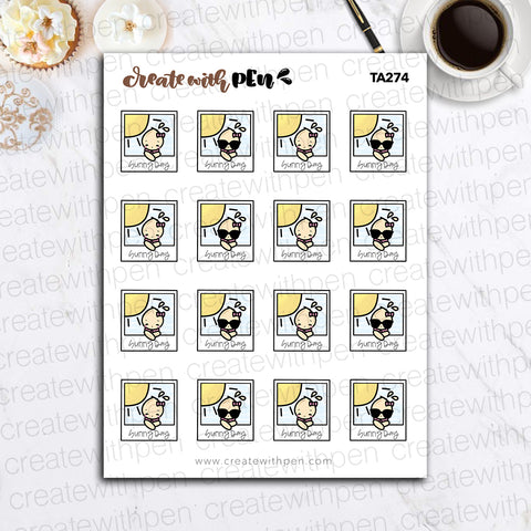 TA274 | Sunny Day Weather | Tinta | Planner Stickers