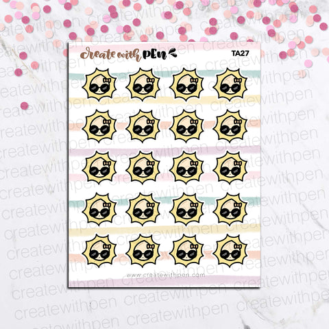TA27 | Tinta | Sunny Day Weather | Planner Stickers