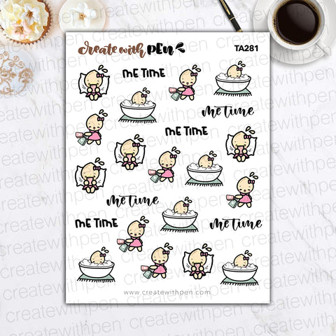 TA281 | Me Time | Tinta | Planner Stickers