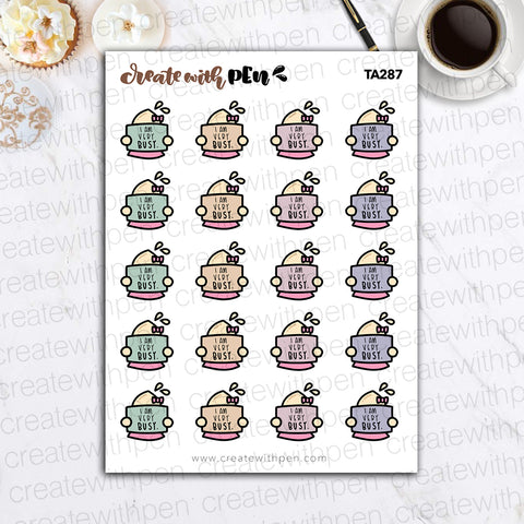 TA287 | I AM VERY BUSY | Tinta | Planner Stickers