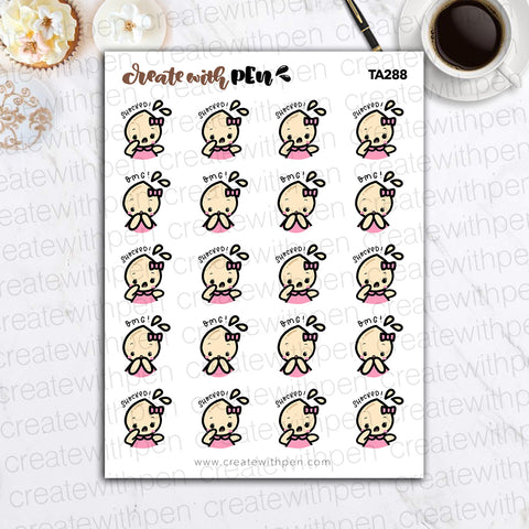 TA288 | SHOCKED! | Tinta | Planner Stickers
