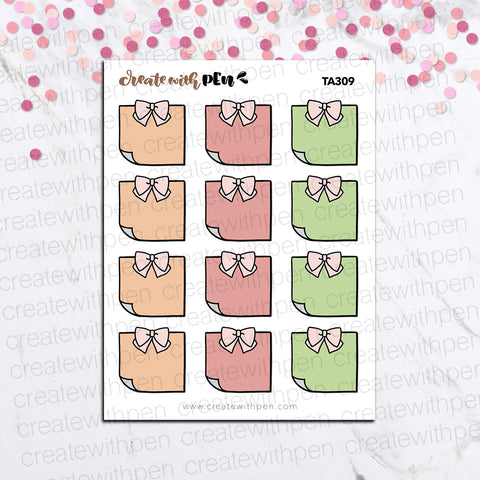 TA309 | STICKY NOTES - Fall Colours | PLANNER STICKERS