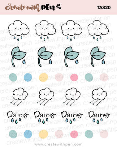 TA320 | Rainy Day V5 Planner Stickers