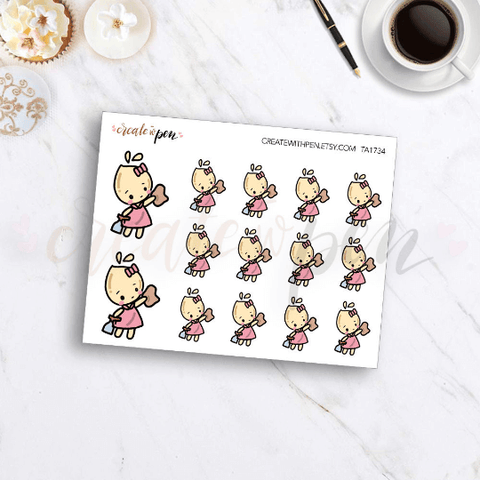 TA34 | Tinta | CLEANING | Planner Stickers
