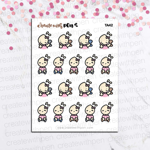 TA42 | Tinta | Lifting Weights | Planner Stickers