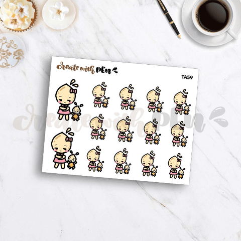 TA59 | Tinta | Crying Baby | Planner Stickers